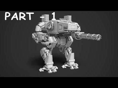 Mech robot modeling 3ds max tutorial part – 1