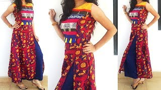 DIY Princess Cut Double Front Slit Kurti\Dress Cutting And Stitching Tutorials