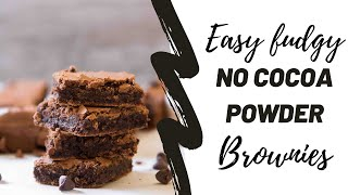 how to make homemade brownies with unsweetened cocoa powder