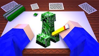 ICH MALE EINEN CREEPER IN MINECRAFT!