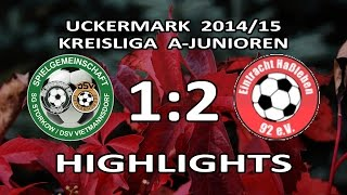 preview picture of video 'STORKOW/VIETMANNSDORF - E.HASSLEBEN 1:2 - Highlights [A-Junioren-Kreisliga Uckermark 2014/15]'
