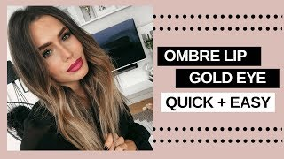 MY GOLD AND OMBRE HOLIDAY MAKEUP LOOK