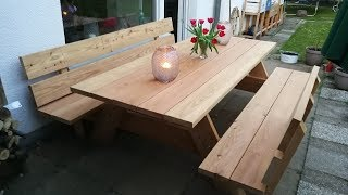 Der 300Kg schwere Picknicktisch für den Garten