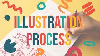 Illustration Process   From Sketch To Digital Illustration   Bear Drawing