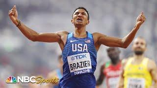 Donavan Brazier breaks American, world championship records in 800m victory   NBC Sports