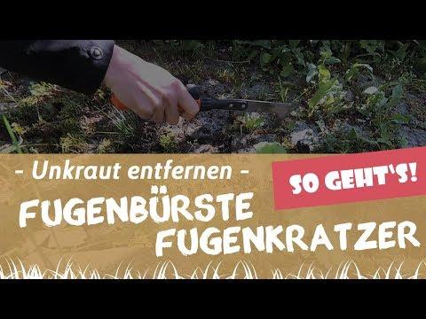 Unkraut entfernen mit dem Fugenkratzer und der Fügenbürste | Garten-und-Freizeit.de