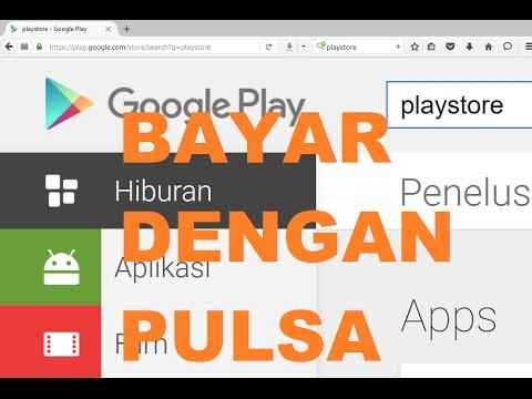 Video Cara Bayar Dengan Pulsa di Play Store