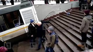 Жуткие кадры с места аварии на Славянском бульваре