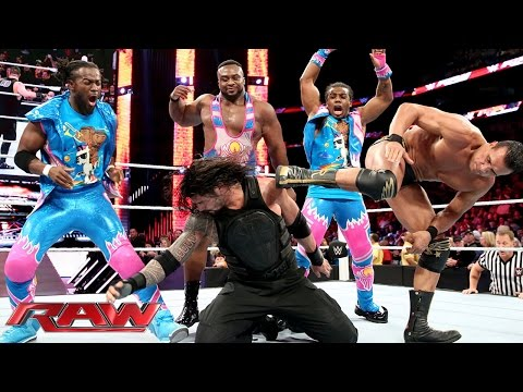 "Download Roman Reigns competes in a  ""One vs. All"" Match: Raw, January 11, 2016 HD Mp4 3GP Video and MP3"