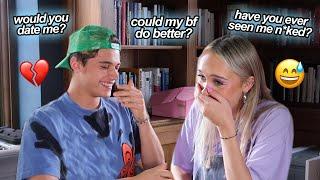 asking my boyfriend's best friend awkward questions