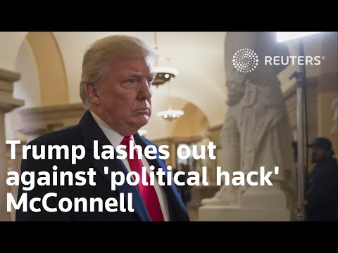 Trump lashes out against 'political hack' McConnell