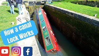 E22. How to take a narrowboat down through a canal lock on the Kennet & Avon canal