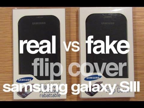 FAKE vs. AUTHENTIC: Samsung Galaxy S3 Flip Cover