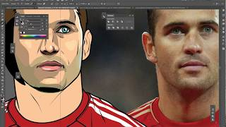 ดราฟรูปเหมือน Aleksandr Kerzhakov ด้วยโปรแกรม Adobe Illustrator