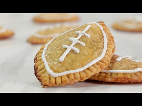 Mini Football Pumpkin Pies For Game Day! | Just Add Sugar