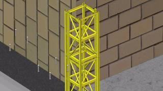 construction hoist install video