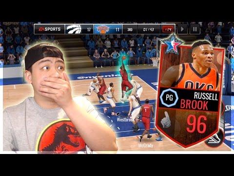 NBA Live Mobile 96 OVR ALL STAR MASTER WESTBROOK GAMEPLAY!!