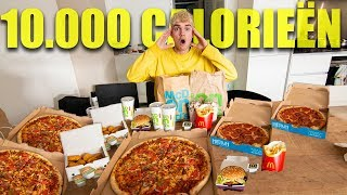 10.000 CALORIEËN OP 1 DAG ETEN (Challenge)