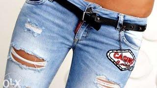 Модные женские джинсы - 2017 / Women jeans / Modische Frauen-Jeans
