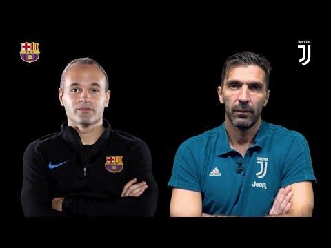 Buffon & Iniesta double interview   Juventus vs Barcelona