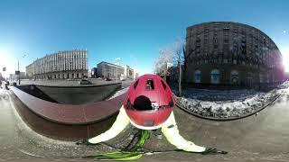 Поездка по Москве на Merida Cyclo Cross 100 - 360 view VR 3D)