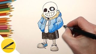 How to Draw Sans from Undertale - Como Dibujar a Sans - Как Нарисовать Санса
