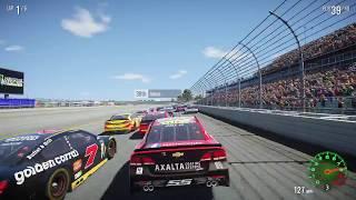 NASCAR HEAT 2 MAX Difficulty Talladega Gameplay