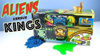 Treasure X Aliens vs Kings Gold a REAL GEM unboxing Moose Toys