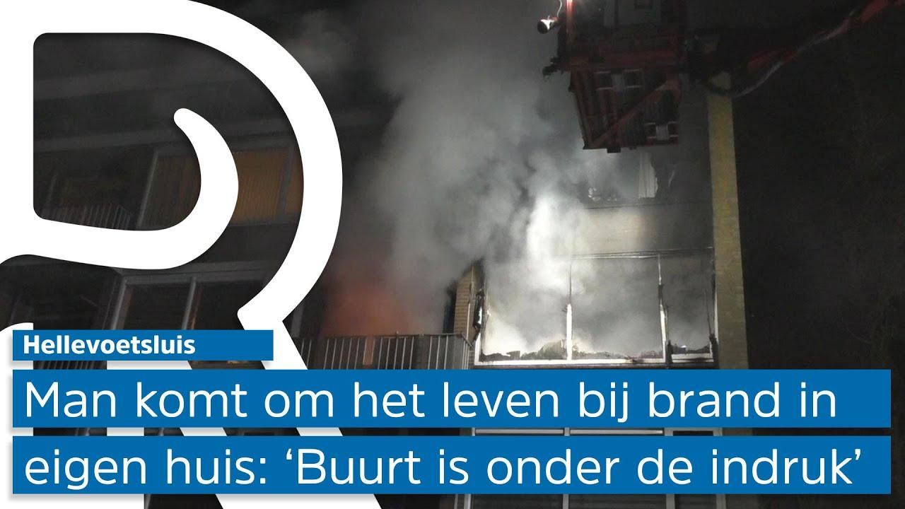 Een dode bij uitslaande brand in woning in Hellevoetsluis