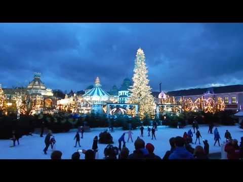 Phantasialand Wintertraum Lichtshow (Beleuchtung und Weihnachtsbaum)