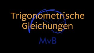 Trigonometrische Gleichungen, Masterplan, Beispiel, schwierig, sin(x ...
