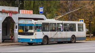 Поездка на троллейбусе №281, ЗиУ-682Г-016(018), город Балаково (второе видео)