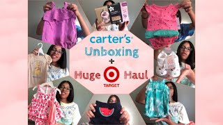 Carters Unboxing + Huge Target Haul {2020} For My Baby Girl 👶🏽🎀