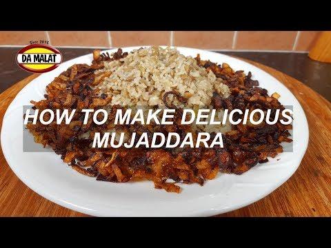 Delicious Mujaddara Recipe   How to make Lebanese Mujaddara Recipe   Healthy vegetarian Recipe