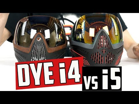 Dye i4 vs i5 Paintball Mask Comparison – 4K