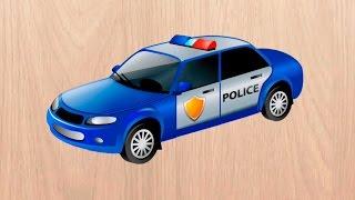 Машинки мультики Полицейская машинка. Скорая помощь и другие машинки. Мультик пазл.