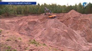 Предприниматель в Крестецком районе незаконно разбил карьер по добыче песка прямо на сельхозугодьях