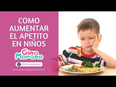 Como aumentar el apetito en niños (Gina Morano)