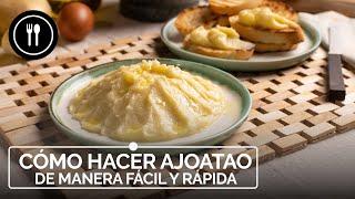 Ajoatao de Jaén, receta tradicional española fácil y sorprendente