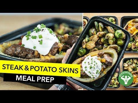 Meal Prep – Quick Steak & Potato Skins / Bistec Flanco con Patata Rellena