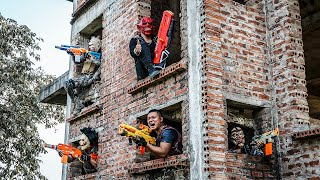 LTT Films : SQUAD Warriors Silver Flash Nerf Guns Fight Criminal Group Hellboy Mask Skill New