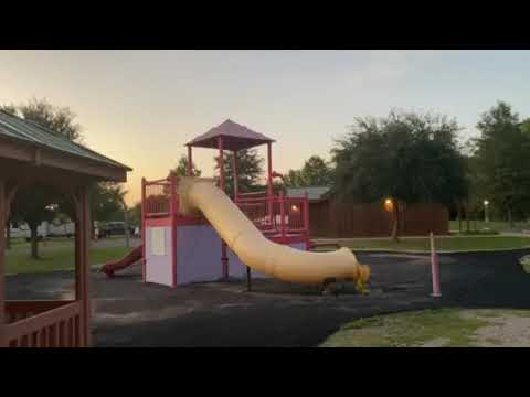 Water playground, bathhouse and laundry facilities