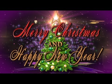 🎄Merry Christmas and Happy New Year 2019!🎄  4K Animation Greeting card
