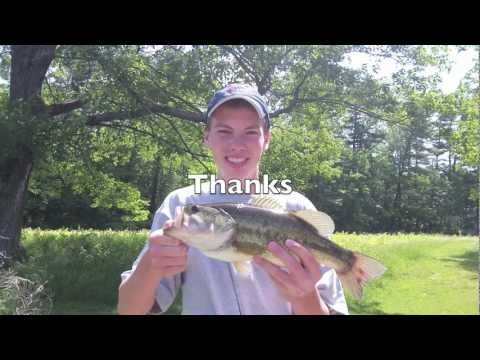 Two Nice Pond Bass on Small Jigs