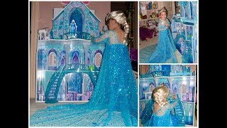 Kids Kraft Frozen Castle Doll House | Queen Elsa Costume With Wig And Crown | Toddler Gifts | Amazon