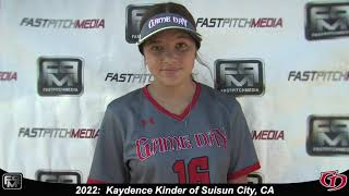 2022 Kaydence Kinder Shortstop Softball Skills Video - Game Day.