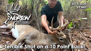 Terrible Bow Shot on a 10 Point GA Buck | Self Filmed | 2019-2020 Season