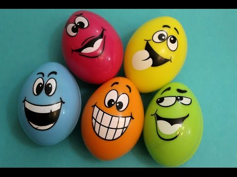 Happy Faces Surprise Eggs Learning Colors And Finding Toys