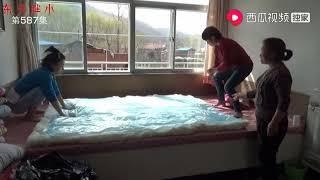 东北胖小:我大姨做棉被没想到还有特别的方法  我还是第一次看到