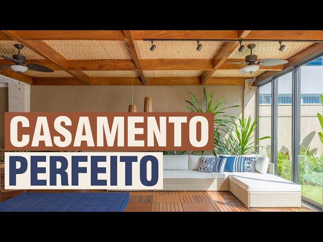 Pergolado Sala de Estar - Cobertura e Forro de Bambu